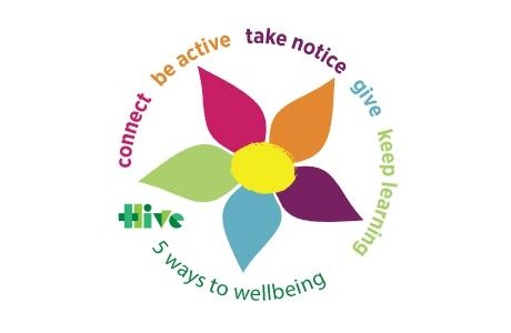5 ways to wellbeing - connect, be active, take notice, give, keep learning