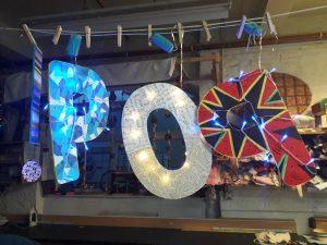 POP letters sculpture