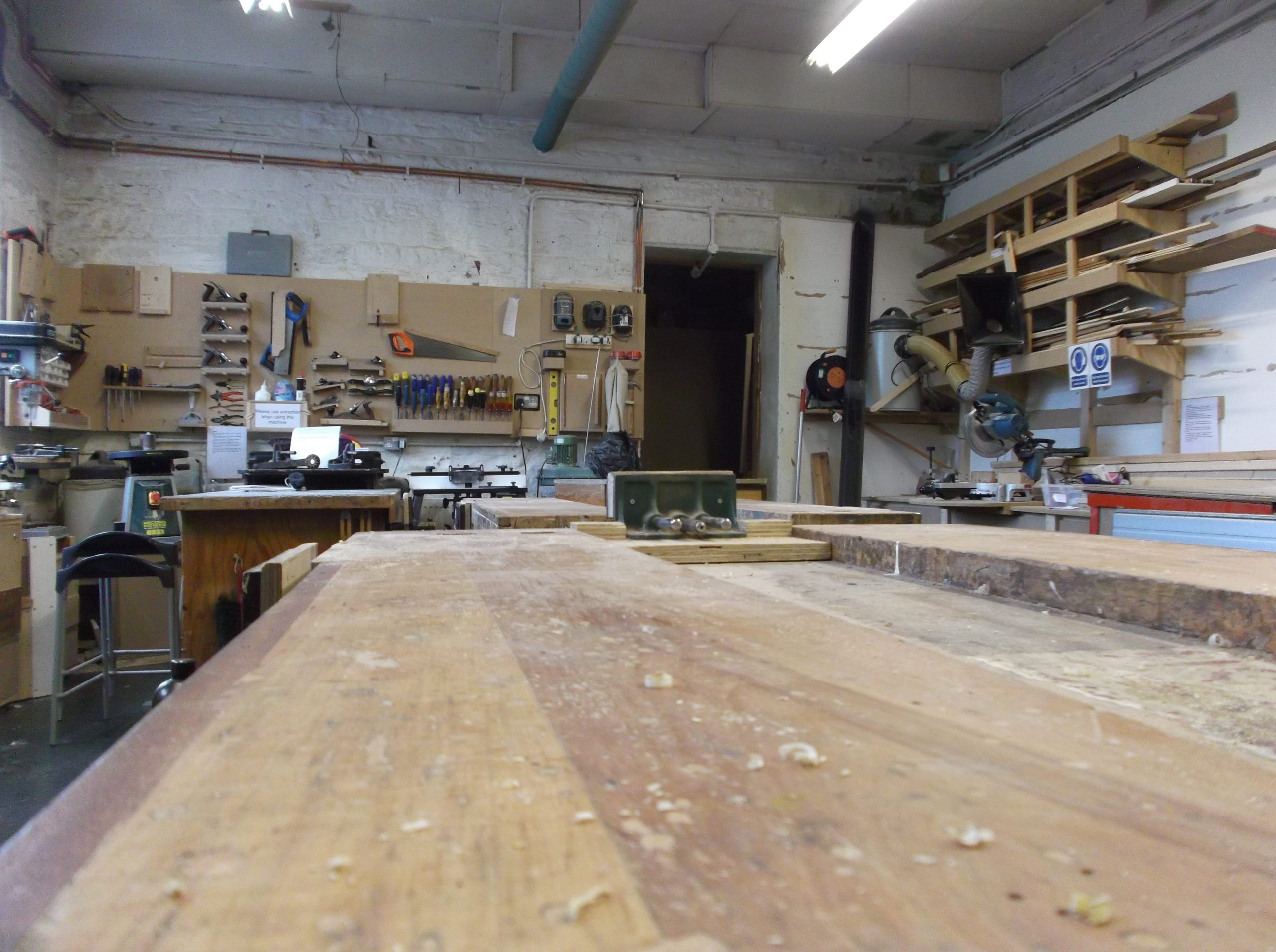 Woodwork bench