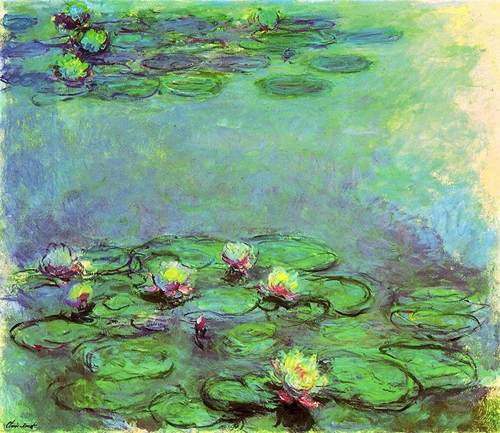 Claude Monet, Water Lilies, 1914-17